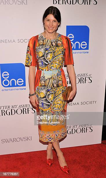 Designer Tabitha Simmons attends the Cinema Society with Swarovski Grey Goose premiere of eOne Entertainment's Scatter My Ashes At Bergdorf's at...