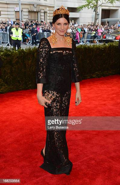 Designer Tabitha Simmons attends the Costume Institute Gala for the PUNK Chaos to Couture exhibition at the Metropolitan Museum of Art on May 6 2013...