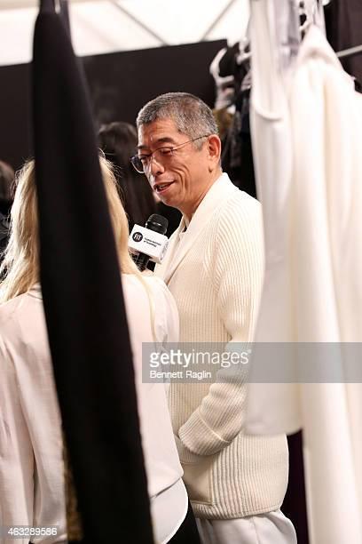 Designer Tadashi Shoji attends Tadashi Shoji at The Salon at Lincoln Center on February 12 2015 in New York City