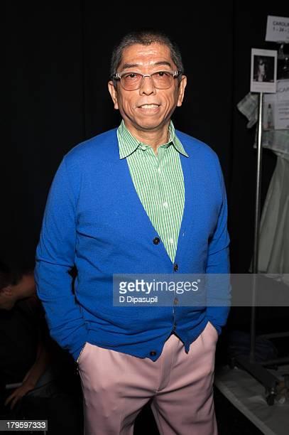 Designer Tadashi Shoji attends the Tadashi Shoji Spring 2014 fashion show at The Stage Lincoln Center on September 5 2013 in New York City