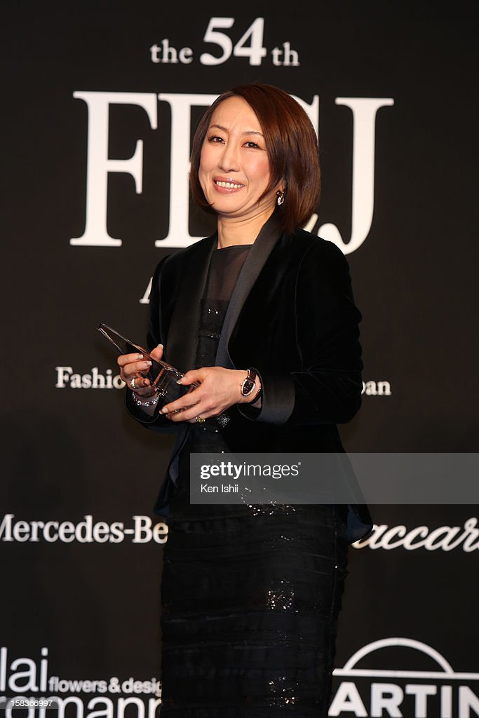 Designer Tae Ashida receives the FECJ Special Prize during the 54th Fashion Editors Club of Japan Awards at Mercedes-Benz Connection on December 14, 2012 in Tokyo, Japan.