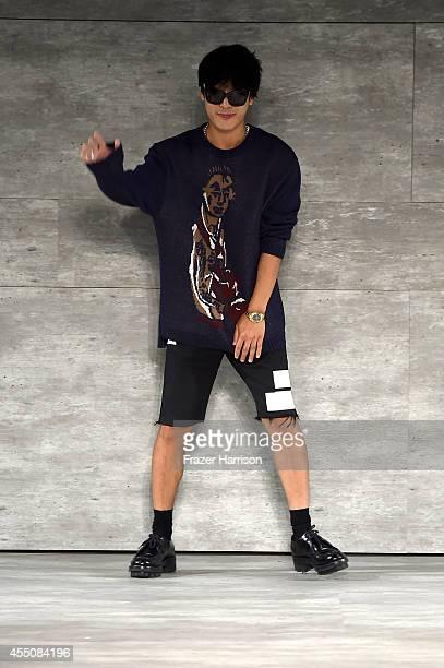 Designer Taeyong Ko of Beyond Closet walks the runway at the Concept Korea fashion show during MercedesBenz Fashion Week Spring 2015 at The Pavilion...