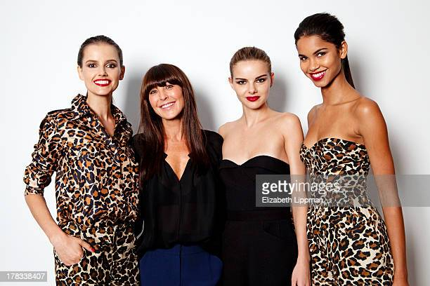 Designer Tamara Mellon and models are photographed for Voguecom on July 25 2013 in New York City PUBLISHED IMAGE