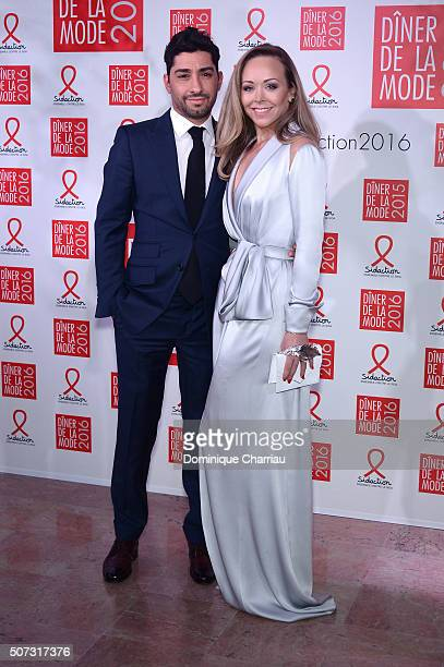 Designer Tamara Ralph and Michael Russo attend the Sidaction Gala Dinner 2016 as part of Paris Fashion Week on January 28 2016 in Paris France
