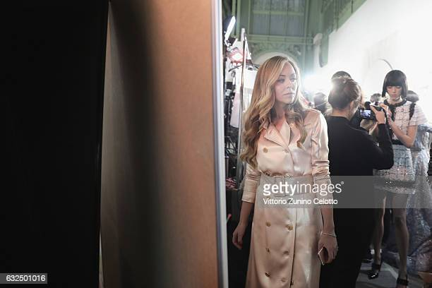Designer Tamara Ralph backstage before the Ralph Russo show on January 23 2017 in Paris France