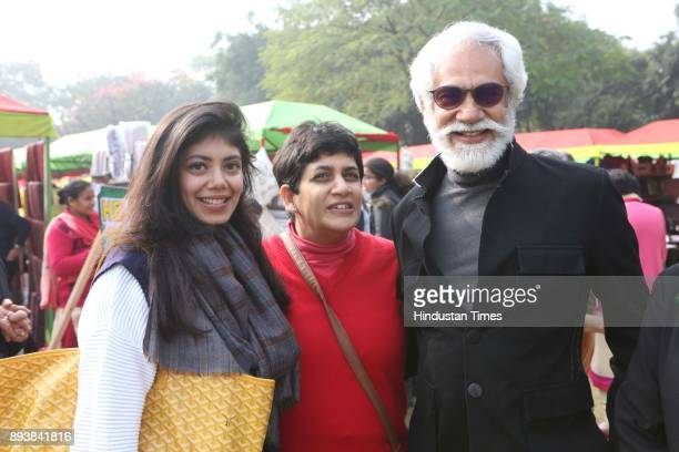 Designer Tanira Sethi Dang Tamana Chona and FDCI President Sunil Sethi during the Winter Carnival 2017 organised by NGO Tamanna at the Residence of...
