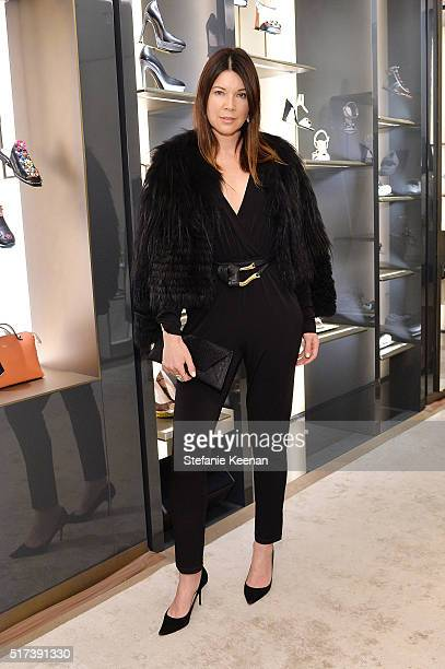 Designer Tanya Gill attends Fendi And Vogue Celebrate Fendi Beverly Hills at Fendi on March 24 2016 in Beverly Hills California