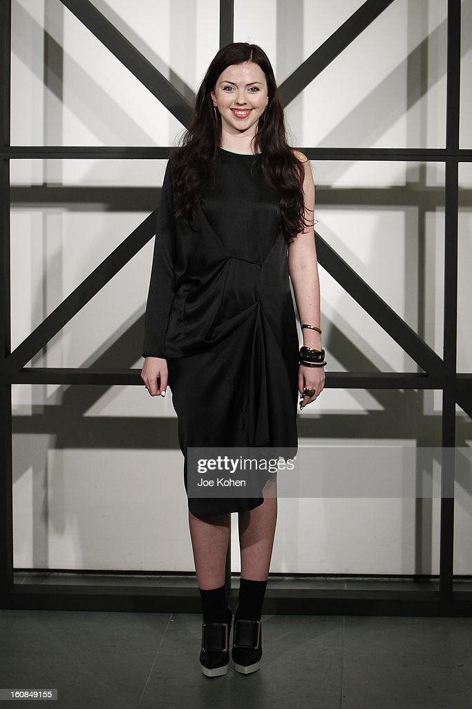 Designer Tanya Taylor attends the Tanya Taylor fall 2013 presentation at The Museum of Modern Art on February 6, 2013 in New York City.