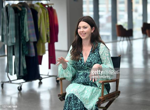 Designer Tanya Taylor speaks during VISA Interview 01 with Fe Noel + Tanya Taylor during September 2020 - New York Fashion Week: The Shows at Spring...