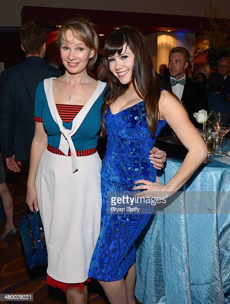 Designer Tatyana Khomyakova and model Claire Sinclaire appear during Cirque du Soleil's 2nd annual 'One Night for One Drop' at the Mandalay Bay...