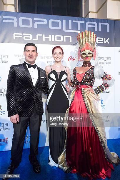 Designer Taylor Decker and Eduardo Khawam Producer Director of Metropolitan Fashion Week arrive at the Metropolitan Fashion Week 2016 Closing Gala...