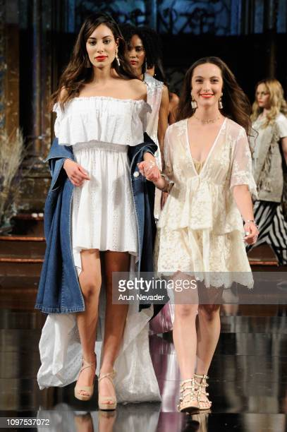 Designer Tensione In walks the runway for TENSIONE IN At New York Fashion Week Powered By Art Hearts Fashion NYFW at The Angel Orensanz Foundation on...