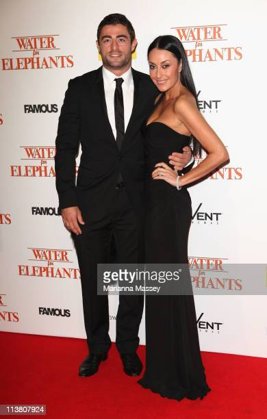 Designer Terry Biviano and Footballer Anthony Minichiello arrive at the 'Water for Elephants' Sydney Premiere at the State Theatre on May 6 2011 in...