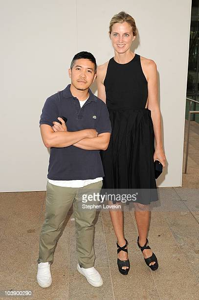 Designer Thakoon and Amanda Brooks attend Fashion's Night Out The Show at Lincoln Center on September 7 2010 in New York City