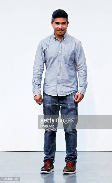 Designer Thakoon Panichgul appears on the runway at the Thakoon fashion show during MercedesBenz Fashion Week Spring 2014 at Dia Art Foundation on...