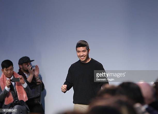 Designer Thakoon Panichgul attends Thakoon during Fall 2013 MercedesBenz Fashion Week at Dia Art Foundation on February 10 2013 in New York City