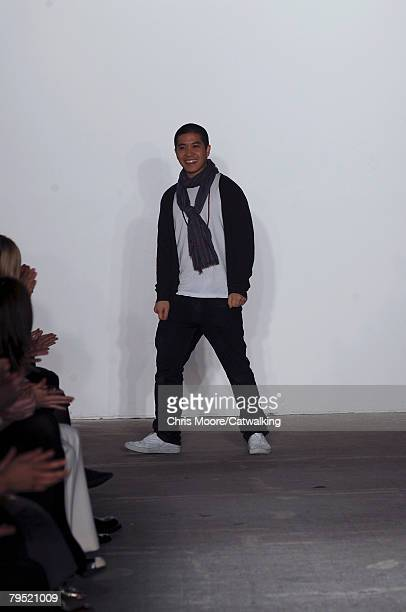 Designer Thakoon Panichgul walks the runway during the Thakoon fashion show part of New York Mercedes Benz Fashion Week Autumn/Winter 2008 on the 4th...