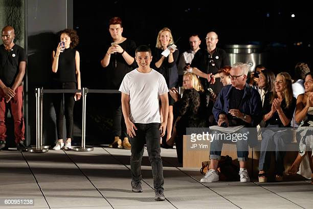 Designer Thakoon walks on the runway at Kerastase Paris at Thakoon S/S 2017 Show during New York Fashion Week The Shows on September 8 2016 in New...