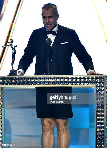Designer Thom Brown speaks onstage at the 2016 CFDA Fashion Awards at the Hammerstein Ballroom on June 6 2016 in New York City