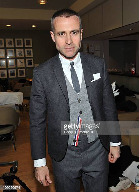 Designer Thom Browne at the Thom Browne Fall 2011 presentation during Mercedes-Benz Fashion Week at the New York Public Library on February 14, 2011...
