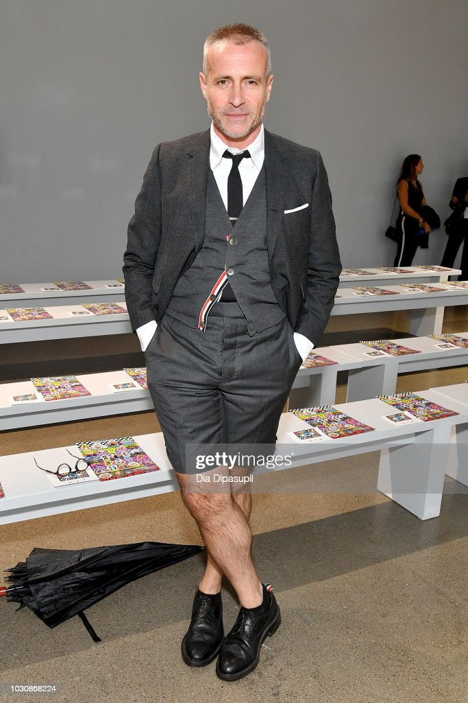 Designer Thom Browne attends the Libertine front row during New York Fashion Week: The Shows at Gallery II at Spring Studios on September 10, 2018 in New York City.