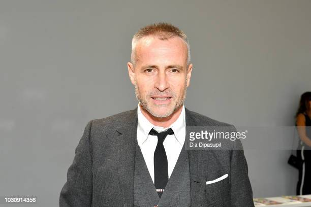 Designer Thom Browne attends the Libertine front row during New York Fashion Week: The Shows at Gallery II at Spring Studios on September 10, 2018 in...