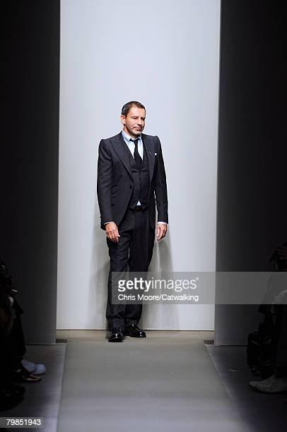 Designer Thomas Maier walks the runway during the Bottega Veneta Fall/Winter 2008/2009 collection during Milan Fashion Week on the 19th of February...
