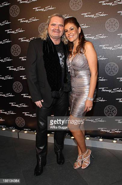 Designer Thomas Sabo and his wife LuzEnith Sabo attend the Thomas Sabo Launch Party at Goya on December 6 2011 in Berlin Germany