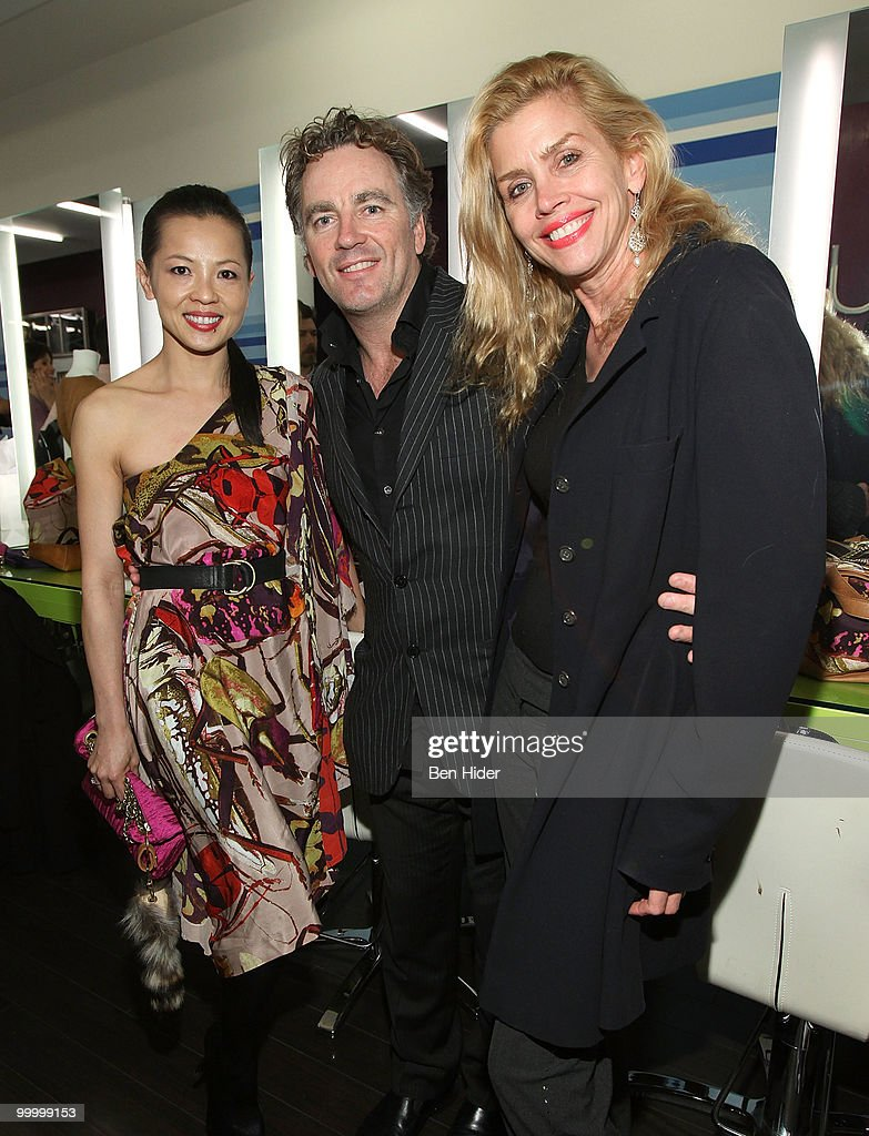 Designer Thuy Diep, Rodney Cutler and Debbie Dickinson attend the Celebrate Summer in Style party at Cutler Soho Salon on May 19, 2010 in New York City.