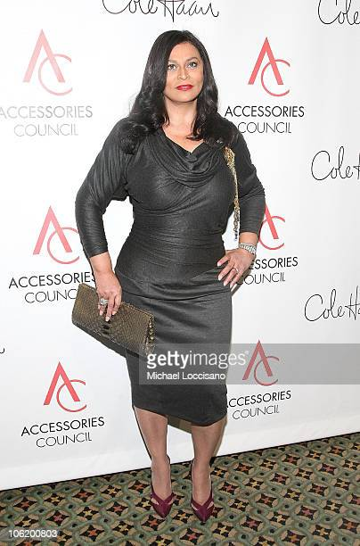 Designer Tina Knowles attends the 12th Annual ACE Awards where the Accessories Council honors fashion influencers at Cipriani on November 3 2008 in...