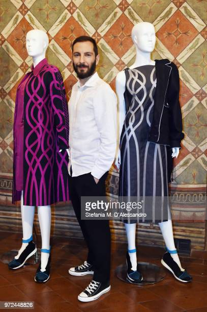 Designer Tiziano Guardini attends 'Too Much Essential The Accumulation Is Contagious Recycle It' Event supported by ISKO held at Palazzo Davanzati...