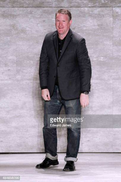 Designer Todd Snyder walks the runway at Todd Snyder during Mercedes-Benz Fashion Week Spring 2015 at The Pavilion at Lincoln Center on September 4,...
