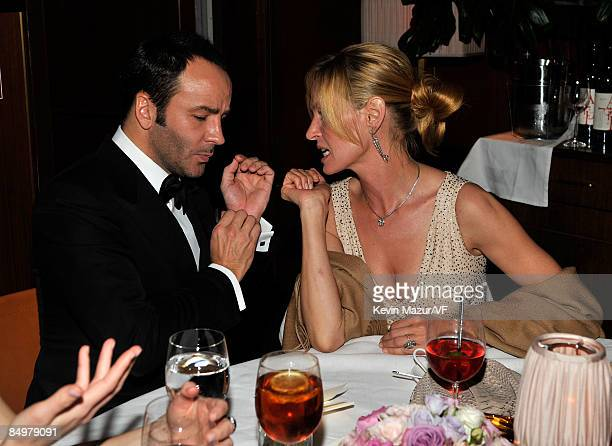 Designer Tom Ford and actress Uma Thurman attends the 2009 Vanity Fair Oscar party hosted by Graydon Carter at the Sunset Tower Hotel on February 22...