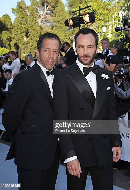 Designer Tom Ford and amfAR Chariman Kenneth Cole arrive at amfAR's Cinema Against AIDS 2010 benefit gala at the Hotel du Cap on May 20 2010 in...