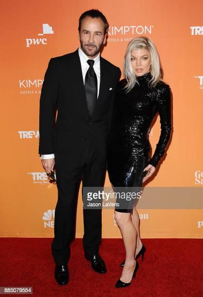 Designer Tom Ford and singer Fergie attend The Trevor Project's 2017 TrevorLIVE LA at The Beverly Hilton Hotel on December 3 2017 in Beverly Hills...