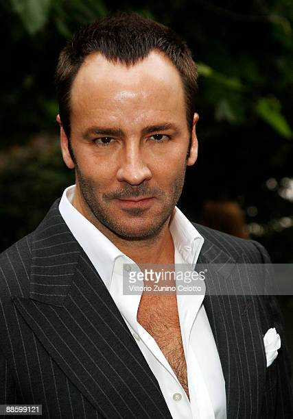 Designer Tom Ford attends the Benvenuto A Milano Men's Fashion Week hosted by Details at The Bulgari Hotel Garden on June 20 2009 in Milan Italy