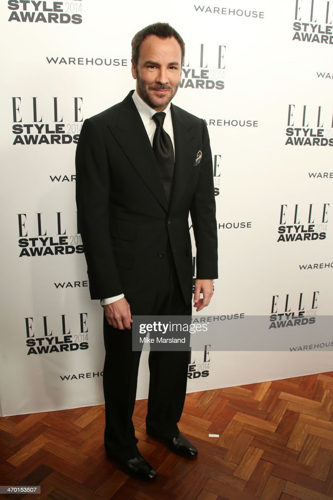 Designer Tom Ford attends the Elle Style Awards 2014 at one Embankment on February 18, 2014 in London, England.