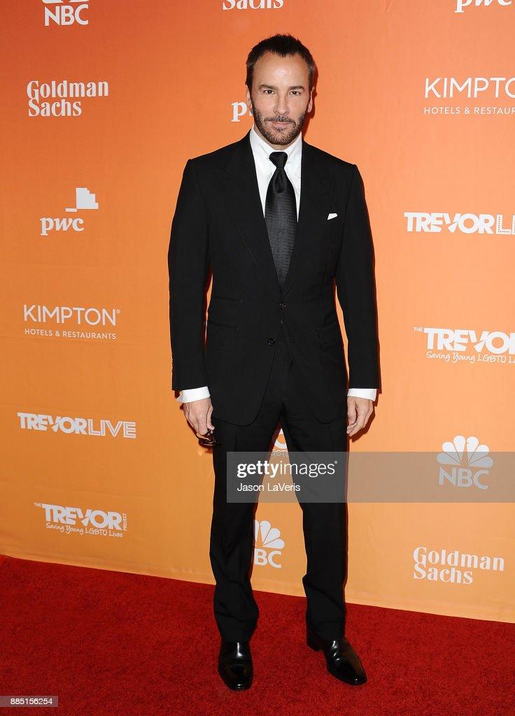 Designer Tom Ford attends The Trevor Project's 2017 TrevorLIVE LA at The Beverly Hilton Hotel on December 3, 2017 in Beverly Hills, California.