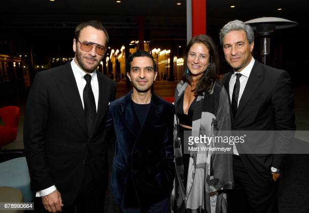 Designer Tom Ford, The Business of Fashion founder and editor-in-chief Imran Amed, LACMA's Katherine Ross, and Michael Govan attend an intimate...