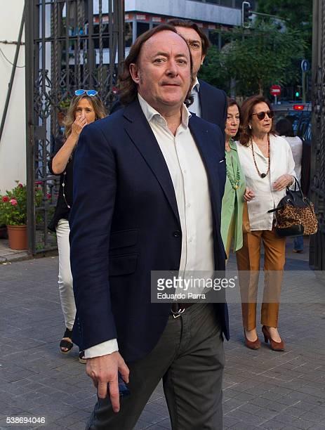Designer Tomas Alia attends the Marquesa de San Eduardo funeral at La Concepcion de nuestra Senora church on June 7 2016 in Madrid Spain