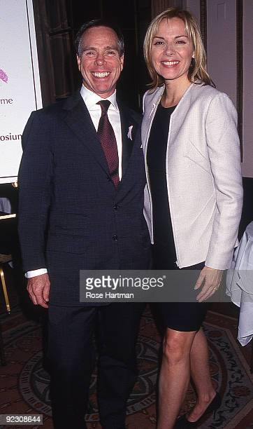Designer Tommy Hilfiger and actress Kim Cattrall at a cancer benefit held at the Plaza Hotel New York 1999