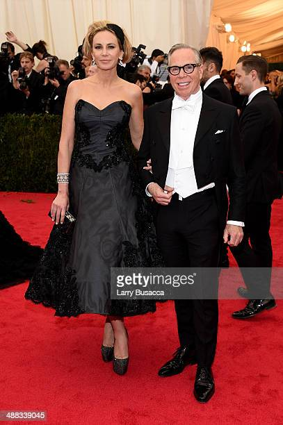 Designer Tommy Hilfiger and Dee Hilfiger attend the 'Charles James Beyond Fashion' Costume Institute Gala at the Metropolitan Museum of Art on May 5...