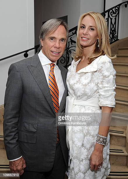 Designer Tommy Hilfiger and Dee Ocleppo at their engagement party hosted by Leonard and Evelyn Lauder at Neue Galerie on June 9 2008 in New York City