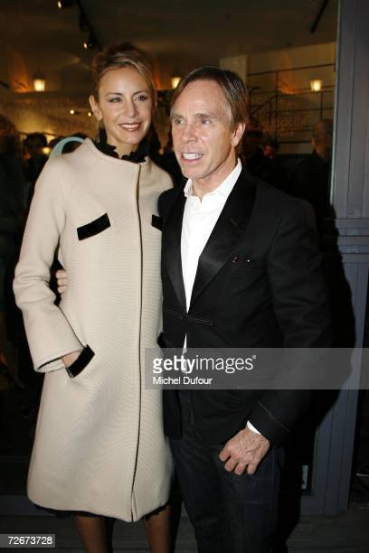 Designer Tommy Hilfiger and wife Susie Hilfiger attend an auction of photographic prints of actress Grace Kelly with proceeds benefiting the Princess...