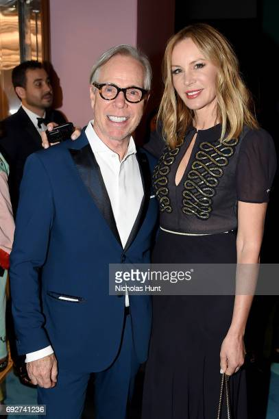Designer Tommy Hilfiger and Dee Ocleppo attend the 2017 CFDA Fashion Awards Cocktail Hour at Hammerstein Ballroom on June 5 2017 in New York City