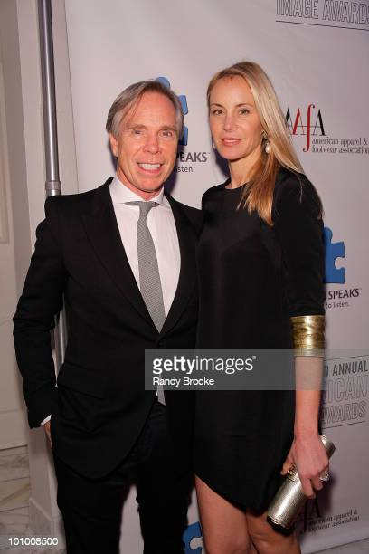 Designer Tommy Hilfiger and Dee Ocleppo attends the 32nd Annual AAFA American Image Awards at the Grand Hyatt Hotel on May 26 2010 in New York City