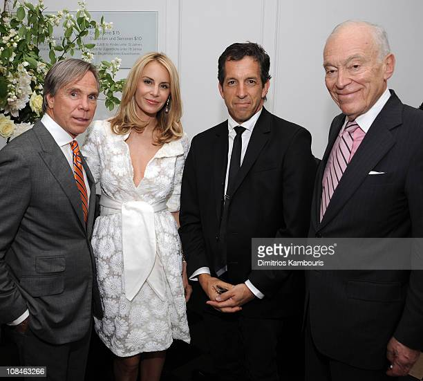 Designer Tommy Hilfiger and Dee Ocleppo with designer Kenneth Cole and Senior Corporate Vice President of Estee Lauder Companies Inc Leonard Lauder...