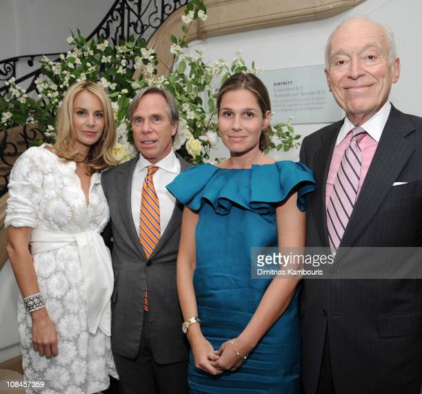 Designer Tommy Hilfiger and Dee Ocleppo with Senior Vice President Creative Director of Estee Lauder Aerin Lauder Chairman and Senior Corporate Vice...