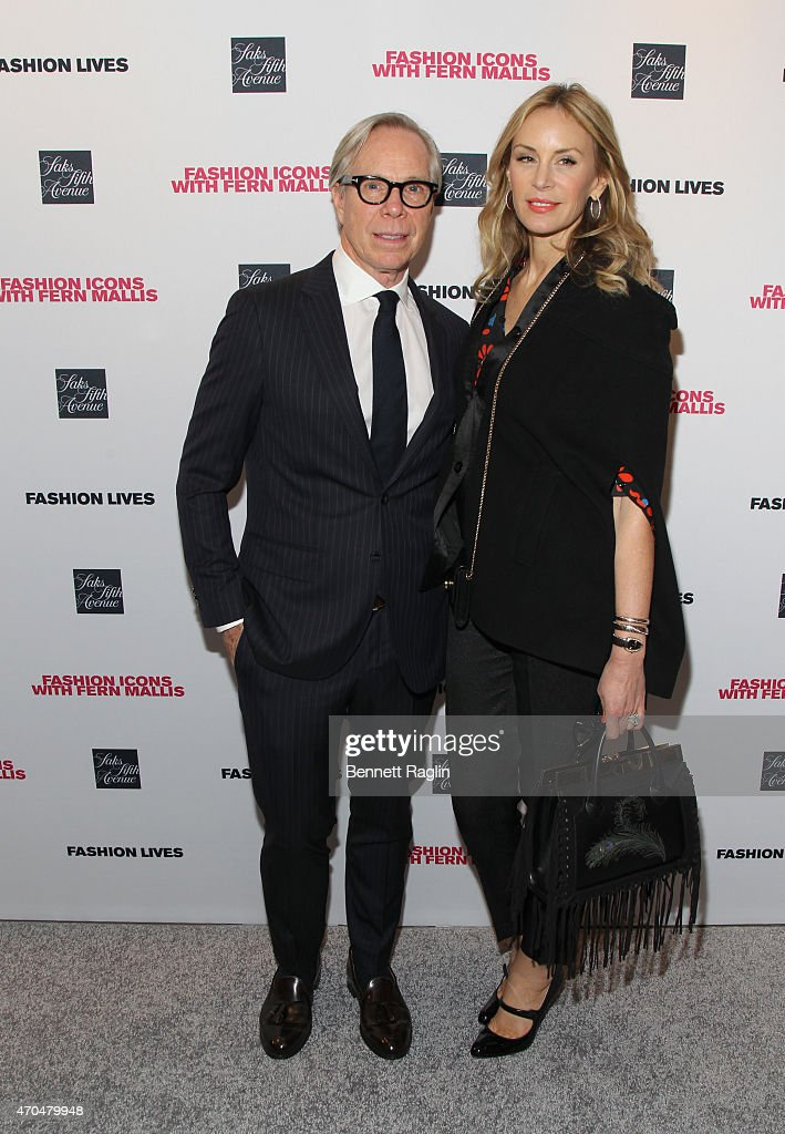 Designer Tommy Hilfiger and wife Dee Ocleppo attend Fashion Lives Book Launch at Saks Fifth Avenue on April 20, 2015 in New York City.