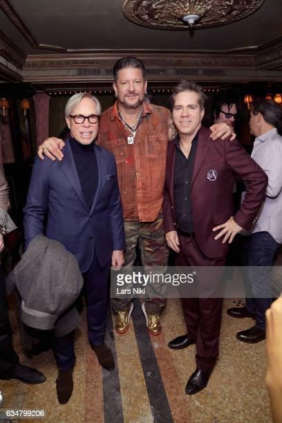 Designer Tommy Hilfiger artist Greg Polisseni and Andy Hilfiger attend Andy Hilfiger Presents ARTISTIX by Greg Polisseni at The Jane Hotel on...